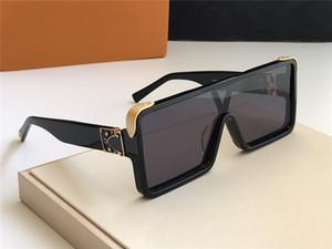 L'ultima vendita di disegno popolare della moda occhiali da sole 1258 telaio piastra quadrata di alta qualità lente anti-UV400 con la scatola originale