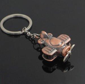 DHL Fashion Mini 3D Airplane Keychain Aircraft Pendant Keyring Keyfob Small Plane Key Chain Cute Christmas Gift 4 Color nd