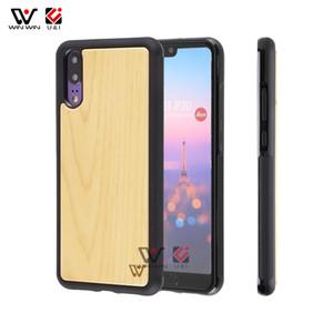 أمازون الأعلى مبيعا 2019 TPU الإطار الطبيعية خشبية حالة الهاتف المحمول لهواوي P10 P20 P30 PRO Mate 20