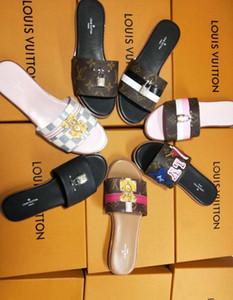 Moda sandali in pelle scivolare pantofole uomo donna 2017 Hot tiger Designer fiore stampato unisex spiaggia infradito pantofola MIGLIORE QUALITÀ 35-41