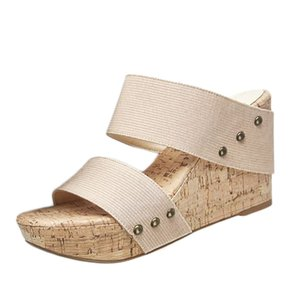Women Shose Summer Womens Breathable Thick Bottom Retro Wedge Sandals Flats Roman Slippers Beach Fashion Style For Lasdies