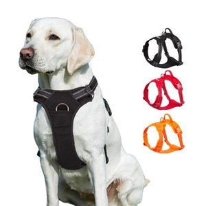 Pet Dog Harness Large Small For Pitbull Reflective Safety Harness For Dogs Car Harness Dog Sport No Pull Vest Husky