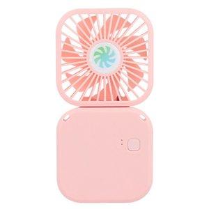 여름 야외 사용을 위해 매는 밧줄 음소거 데스크탑 미니 팬 매달려 목 팬 접이식 팬을 충전 휴대용 미니 USB