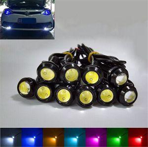 18mm 10X Auto 12V CC 9W LED de Eagle Eye Light Bulb Auto niebla del coche DRL estacionarse en reversa de copia de seguridad de la lámpara de señal de color amarillo