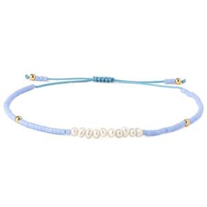 KELITCH Blue Sky amitié Bracelets Tissé Charm Miyuki Seed cordelette de perles Bracelets Bangles Bijoux pour Femmes Coffret Cadeau