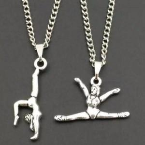Regalo di gioielli con ciondoli da donna con ciondolo ginnasta da ragazza in argento stile vintage misto di moda calda - 81
