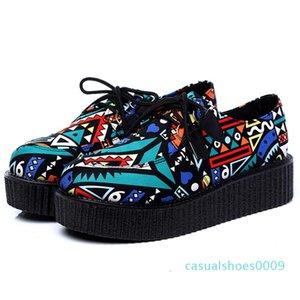 Été Femmes Chaussures Creepers Femmes Flats Plate-forme Chaussures Casual Flats Grimpereaux Mocassins Ladies C09