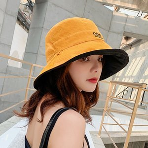 2020 new double-sided little daisy hat to cover the face Japanese design female summer Korean version of the tide wild