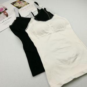 Mulheres elegantes Casual Regatas Verão Mulheres do Integrated Anel Sem Aço Com Chest Pad Vest Bottoming shirt Casual Manga