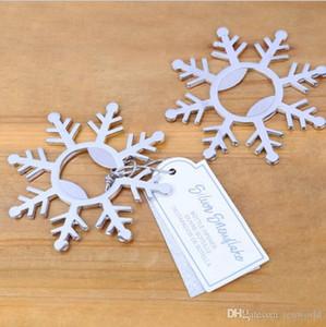 2019 Silver Снежинка открывалки Свадебные душ Свадебные сувениры Зимний партии Supplies Anniversary Таблица Decor Расходные материалы