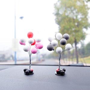 Decoração criativa Auto Ornamentos Multicolour Adorável Balão Car Mini Console carro dos desenhos animados Decoração Acessórios