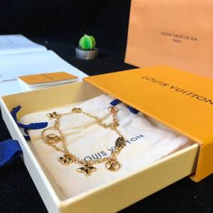 femmes vente chaude de la chaîne punk bracelet avec des fleurs et creux pour les femmes mariage cadeau bijoux PS8223 livraison gratuite