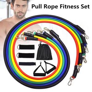 11 Pcs Set Elastic Band Resistance Bands Training Exercise Yoga Tubes Pull Rope Expander Fitness Exercise Pilates Yoga Brick