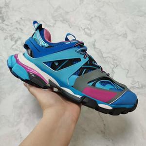 Lüks Tasarımcı Üçlü S 3.0 Sneakers adam Günlük Ayakkabılar kadınların Platformu açık spor ayakkabıları Tess S. Gomma Trek naylon Erkekler Pist Eğitmenler C22 örgü