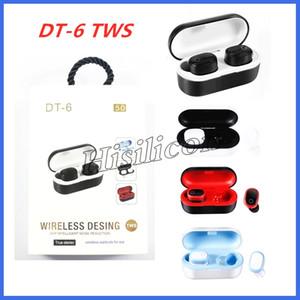 10pcs DT-6 TWS sem fio Bluetooth 5.0 fone de ouvido Fone Stereo Earbud Esporte in-Ear fone de ouvido para Smartphone pk i12 i11 i9s I88 inpods12