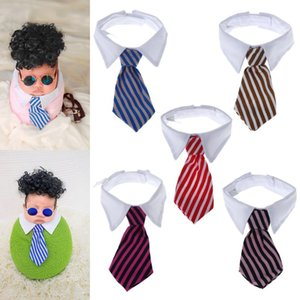 Baby Tie Collar Photography Props Costume Wrap Business Funny Cute Boys Photo Shot Stripe Fashion Cosplay Party Newborn Charms