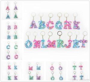 Смешанная Cuet Unicorn Стиль ПВХ Letters Key Chain Сумочка Подвеска Шарм Брелок Подарки Декор Бесплатная доставка