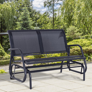 Outsunny Terrasse Doppel 2 Person Glider Bank Rocker Porch Love Seat Verandaschaukel