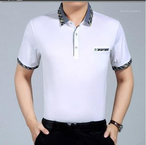 Color Mens Designer Shirts Business Casual Short Sleeve With Button Slim Turn Down Collar Summer Male Shirts Plaid Solid