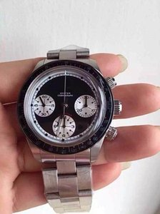 37mm Vintage 6239 6240 6263 Paul Newman En iyi kalite erkek kol saati Chronograph otomatik 7750 saatler çalışan tüm alt kadranları izle