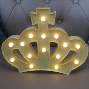 Creative Crown Shape led Night Light Home Kids Bedroom Wedding Birthday Party Decorative Lighting Lamp Dropship
