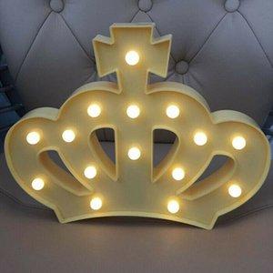 Forma corona creativo portato luce di notte dei capretti di Camera Matrimonio festa di compleanno Illuminazione decorativa della lampada Dropship