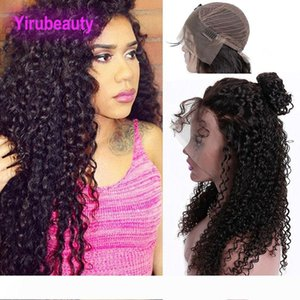 Malaysian Human Hair Unprocessed 13X4 Lace Front Wigs Natural Color Kinky Curly Pre plcked Lace Front Wigs With Baby Hair Products 8-30inch