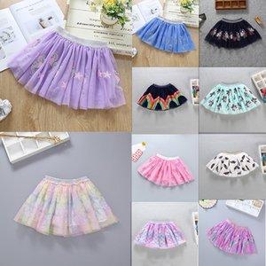 12 colori Nuovo sirena Unicorn fiori delle neonate Dress Paillettes ricamato tutu abito di sfera pannello esterno del bambino garza Per Scuola del Partito Inviare gratis