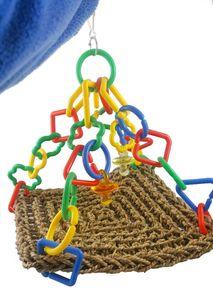 Hava Sky Hook Grubu Saç In Ağ Bed tırmanmaya Net Asma Parrot Kuş Oyuncak Hamak