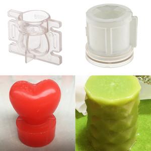 2 шт Свеча Пресс-формы Прозрачный 3D Love Heart, Diamond Cylinder Shaped Пластиковые Свечи Создание модели прессформы для DIY ремесла решений