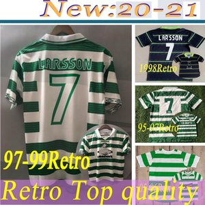 retro 1997 1999 LARSSON soccer jerseys HOME GREEN 97 99 Vintage football shirts BRATTBAKK JOHNSON WIEGHORST BURLEY BLINKER McNAMARA 95 1980