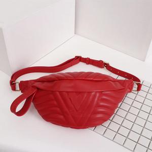 New Wave bolso de la cintura de los hombres / mujeres riñonera mujeres bolsas de cuero genuino ceinture cintura empaqueta tamaño de 37x14x13 modelo M53750