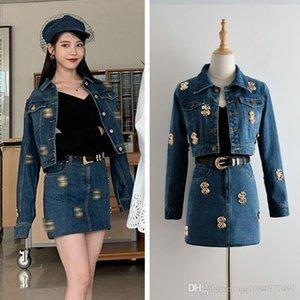 Ultra Short Skirt 2019 Herbst New Fashion Trend Denim Blue kurze Jacke Frauen BagHip Rock-Klage Rock-Klagen für Frauen Sexy F