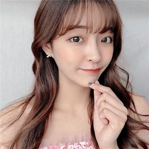 Korean-Style Irregular Cutout Lovely Pearl Earrings Womens Exquisite Shiny Diamond Set Peach Heart Earrings Earrings All-match