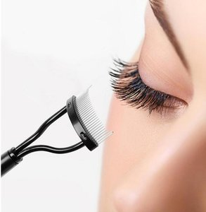 Cílios escova inoxidável compõem Guia Mascara Aplicador pestana Comb sobrancelha escova encrespador beleza ferramentas essenciais