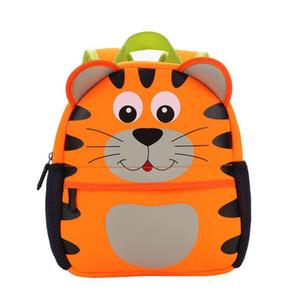 saco de neoprene Crianças 3D bonito caçoa o animal Projeto Backpack criança Kid Escola Bags Kindergarten dos desenhos animados Bag Giraffe Owl S200107 macaco