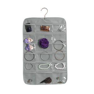 Gioielli Storage Bag [DDisplay] non tessuto Singolo-lato attaccatura di parete monili sacchetto multifunzionale rinfrescante finitura Organizer 18 celle