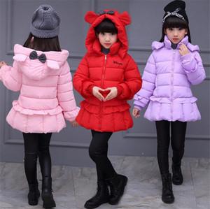 Дети зимнее пальто девушки куртки с капюшоном верхняя одежда девушки мода толстые теплые зимние пальто парки Детская одежда для высоты 100-150 см