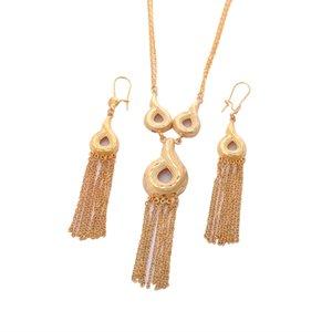 New Ethiopian Wedding Bridal Jewelry Set 24K oro colore collana orecchini gioielli africani gioielli da sposa