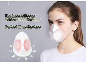 Анти-туман PM2.5 Пылезащитная маска Дышащий пыленепроницаемый Сопротивление пыльцы Высокого класса Прозрачный Силиконовый Фильтр Маска Респиратор бесплатная доставка 2019 новый