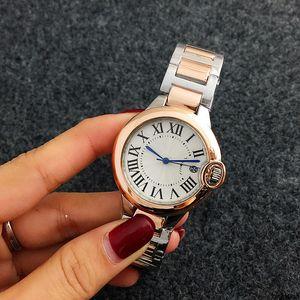 buygogo Мода женщина Кварцевые часы Рим Слово Циферблат Стиль Часы Роскошные платья модельер стальной ленты Кварцевые часы оптовой