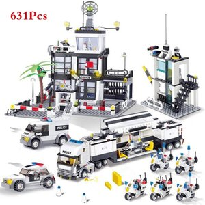 City Police SWAT elicottero camion Building Blocks automobile regolano LegoINGLs Brinquedos Mattoni Playmobil giocattoli educativi per i bambini