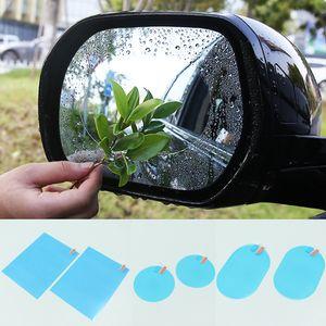 Yağmur geçirmez Araba Dikiz Aynası Çıkartmalar Film Anti Sis Filmi Pencere Temizle Etiket Koruma Güvenlik Sürücü Oto Aksesuarları