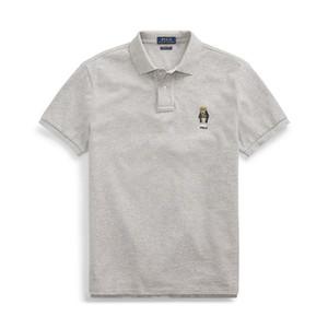Erkek tasarımcı polo gömlek erkekler Yaz Erkekler için Rahat T Gömlek Tops güzel Ayı nakış polo gömlek Kısa Kollu polo tasarımcı hommes