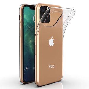Ultra Slim Fino Soft TPU Silicone Borracha Cobertura Transparente Transparente Capa Para iPhone 12 Mini 11 Pro Max XS XR X 8 7 6 6S PLUS SE 2020 Proteção