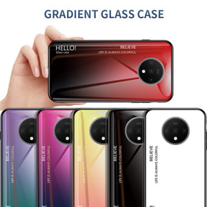 Anti-Scratch İnce Gradient temperli cam Vaka İçin OnePlus 7T 7 Pro 7 6T 6 5T 5 Bir Artı