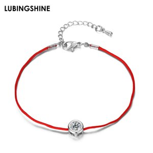 Handmade Red Rope Chain Bracelet 9 Colors Crystal Zircon Charms Bracelets For Women Men Couple Fashion Jewelry Anniversary Gift