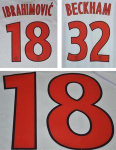 2012 2013 PAR entfernt rot Druckfußball Namesets IBRAHIMOVIC BECKHAM Fußballspieler Stempelnummern PARIS gedruckt Kunststoff Fußball Aufkleber