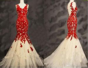2020 New V-neck Appliques Beaded Prom Vestido Longo Fiesta Fashion Dress Elegant Tulle Long Mermaid Evening Dresses vestidos de novia .