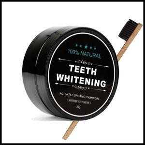 EPACK الكربون المنشط تبييض مسحوق مجموعة معجون أسنان مبيض الاسنان مسحوق الفحم الخيزران فرشاة الأسنان عن طريق الفم النظافة تنظيف